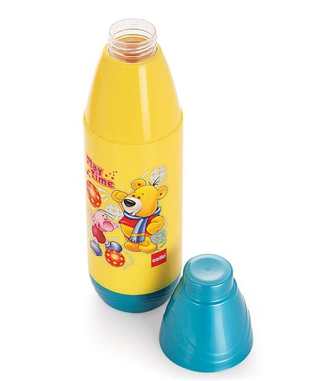 Memobottle A6 350 Ml Tanparant cello polo water bottle 600 ml yellow buy at best price in india snapdeal