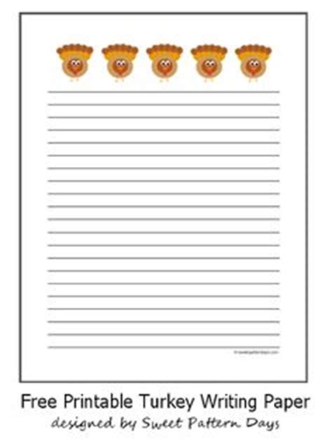 printable fall writing paper with lines thanksgiving printables on pinterest writing papers
