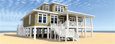 Coastal House Plans On Pilings elevated stilt piling and pier house plans