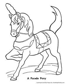 cutting horse coloring page circus printables circus clowns color page coloring