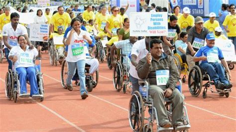 types of physically challenged 207 lakh households in india disabled persons census