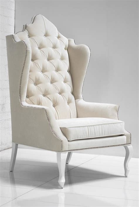White Wingback Chair Design Ideas Www Roomservicestore Casablanca Wing Chair In White Velvet