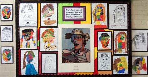 picasso paintings ks1 stretton handley school wall displays