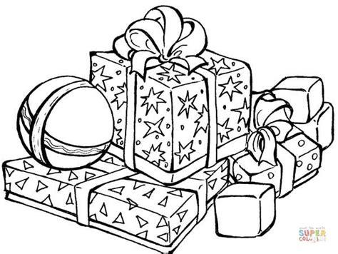 holiday gift coloring page kolorowanka świąteczne prezenty kolorowanki dla dzieci