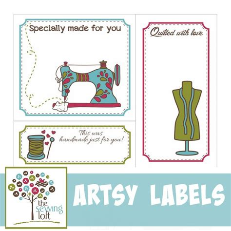 Quilt Labels On Computer by Printable Artsy Quilt Labels