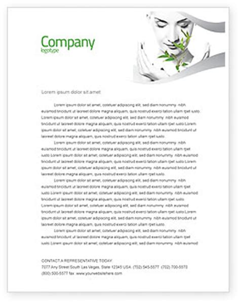 bio cosmetics letterhead template layout for microsoft
