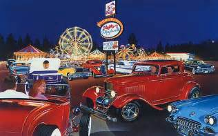 Automotive Wall Murals automotive art by bruce kaiser hot rod art home page