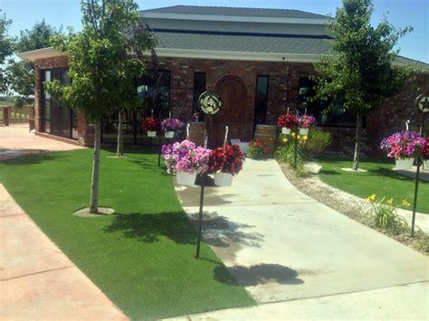 front yard in allgreen grass