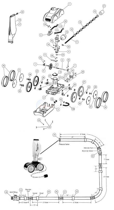 kreepy krauly parts diagram pentair kreepy krauly legend ii parts inyopools