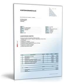 Angebot Erteilen Muster Kostenvoranschlag Heizung Gas Und Sanit 228 Rarbeiten