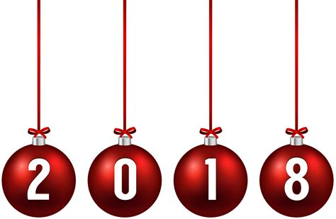 new year 2018 ornaments 2018 balls png clip image gallery