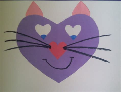 Craft Paper Hearts - crafts for preschoolers animals