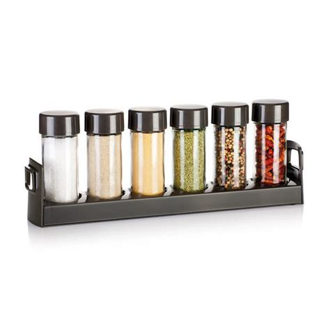 Thin Spice Rack 657062 Spice Jars In Narrow Stand Season Tescoma