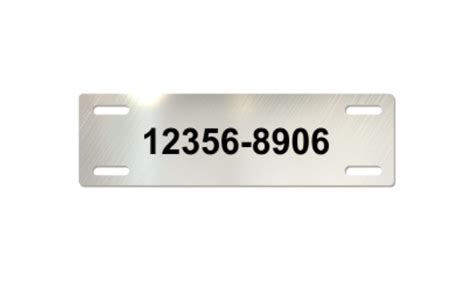 stainless steel tags stainless steel cable tag 7 8 x 3 inch