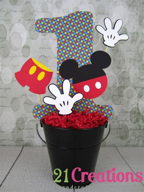 32 Best Images About Bbshower Mickey On Pinterest More Centerpieces For Mickey Mouse Birthday