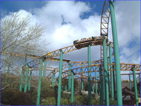 theme park cornwall the roller coaster at flambards theme park near helston