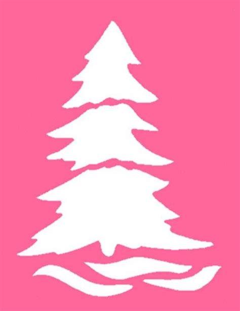 christmas stencil tree stencils to cut pinterest