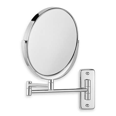 bathroom swivel mirror jerdon wall mount 8x 1x magnifying swivel mirror in chrome