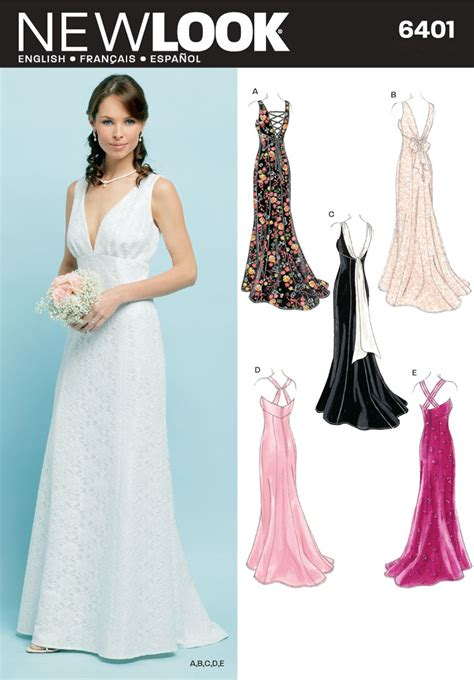 pattern dress formal new look pattern nl6401 misses special occasion dresses