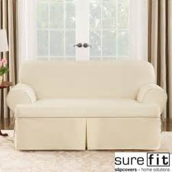 t cushion sofa covers sure fit contrast cord duck t cushion loveseat