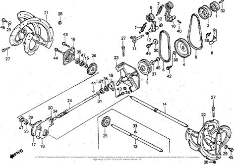 honda snowblower parts diagram honda hs50 ta snow blower jpn vin hs50 1000534 parts