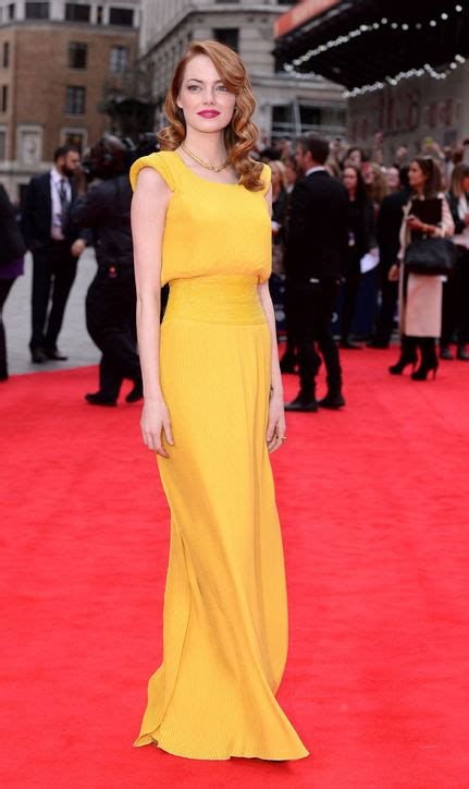 Emma Stone Yellow Versace | summer 2014 is all about bold colours edith s