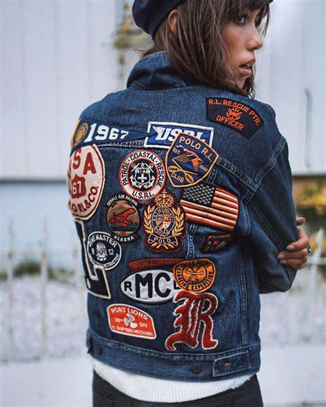 Patched Denim Jacket jacket denim jacket denim blue jacket patch