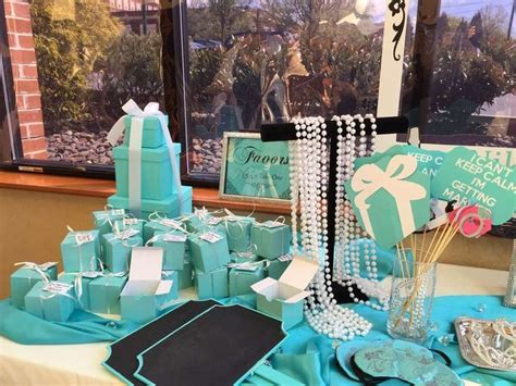 Tiffany themed Bridal/Wedding Shower Party Ideas   Bridal