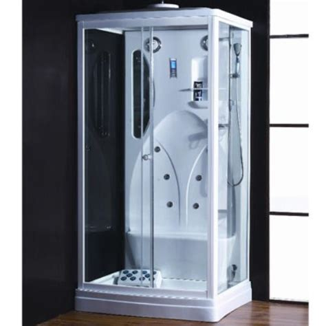 cabine doccia rettangolari box doccia idromassaggio rettangolare con cromoterapia