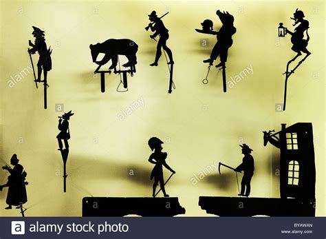 the figure theatre shadow theatre figures in the puppet theatre collection