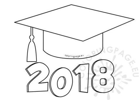 graduation cap card template coloring school coloring page