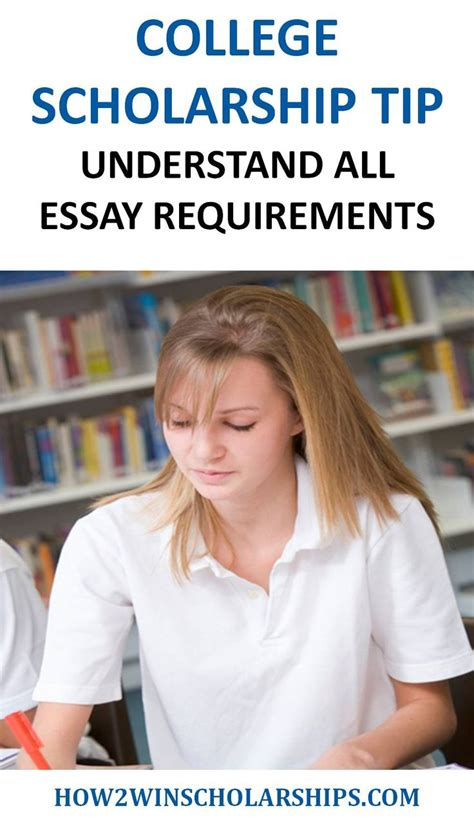 Scholarship Essay Exles For College college scholarship tip understand all essay requirements