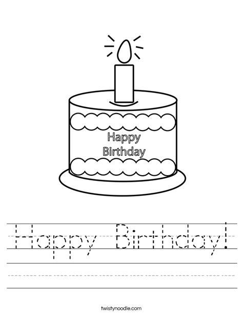 Happy Numbers Worksheet by Happy Birthday Worksheet Twisty Noodle