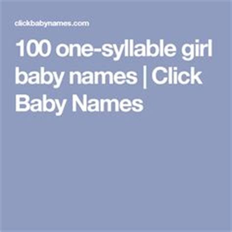 one syllable names boy names boy baby names and syllable on