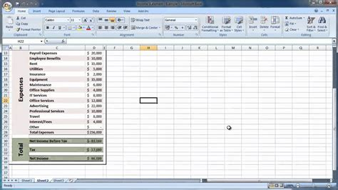 income statement template xls excel 2007 how to create an income statement guide level