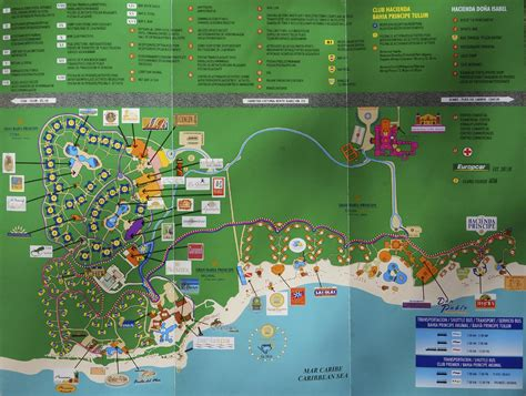 akumal resort map bahia principe mayan riviera mexico site map photo