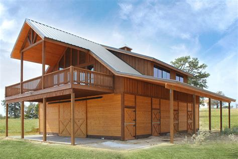 Barn Plans With Apartment | horse barn with loft apartment the denali barn apartment