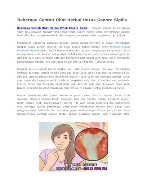 Obat Herbal Untuk Sipilis beberapa contoh obat herbal untuk gonore sipilis