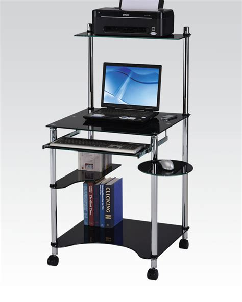 black finish computer desk by acme furniture ac92135