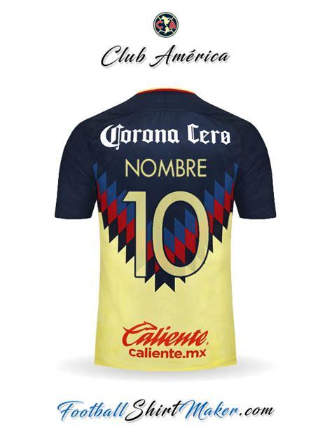 imagenes nuevas del club america crear camiseta de club america 2017 2018 con tu nombre y
