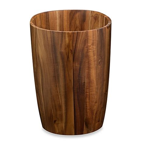 bedroom wastebasket buy acacia vanity wastebasket from bed bath beyond
