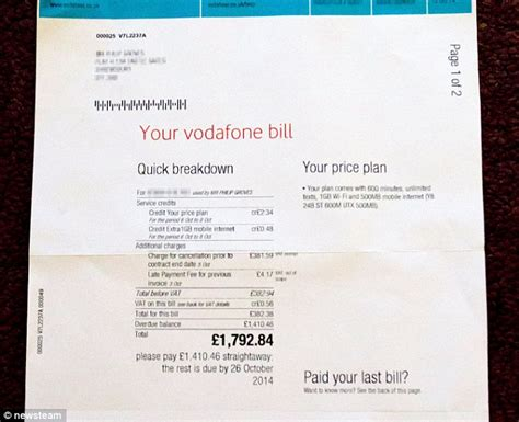 Cancellation Letter Vodafone Left With 163 1 800 Phone Bill After Downloaded