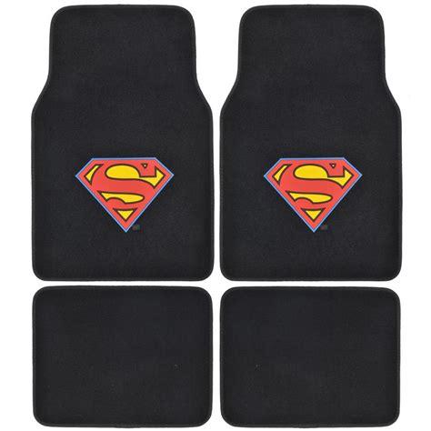 bdk of steel superman wbmt 1601 carpet 4 pieces car