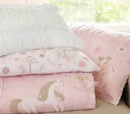 unicorn quilt pottery barn