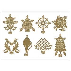 Tibetan Wealth Vase 8 Auspicious Objects