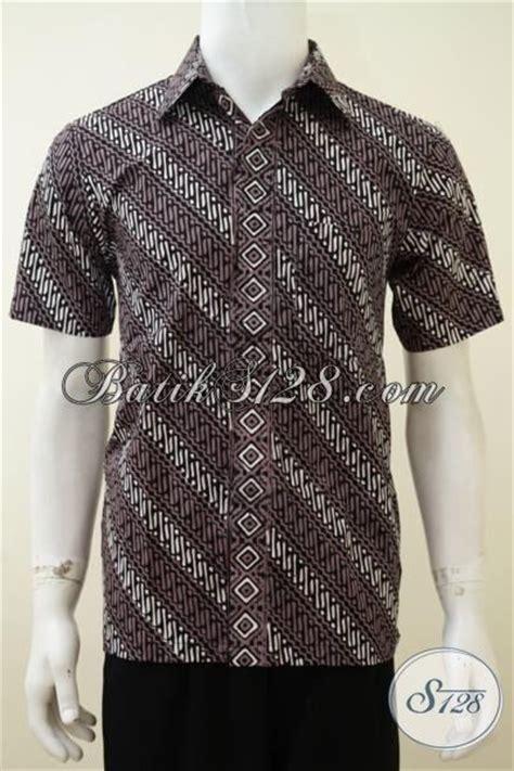 Koleksi Terbaru Kemeja Coklat Sw Kemeja Pria Katun Stretch 1 kemeja batik parang warna kombinasi putih coklat pria