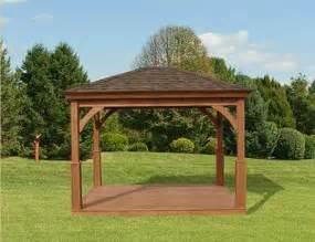 14x14 Pergola Plans by Wood Pavilion Wood Pavilion Gazebo Depot