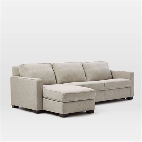 2 piece sleeper sectional henry 174 2 piece pull down sleeper sectional w storage