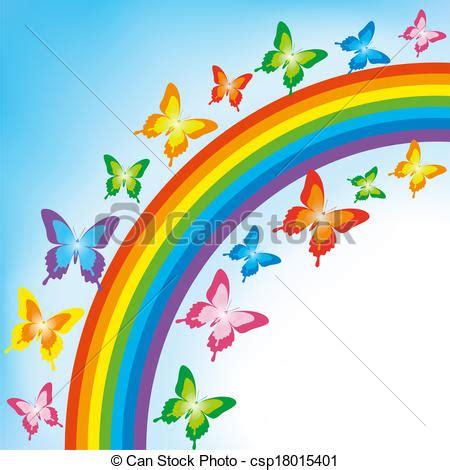clipart arcobaleno clipart vettoriali di farfalla arcobaleno fondo fondo