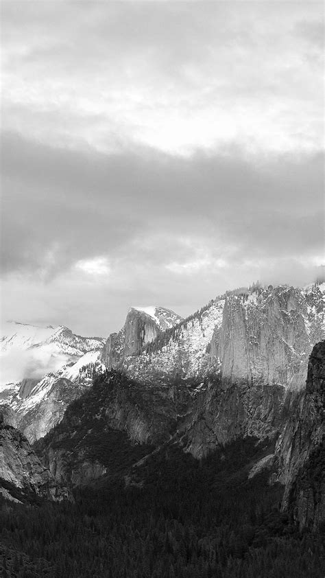 dark grayscale mountains forest landscape iphone